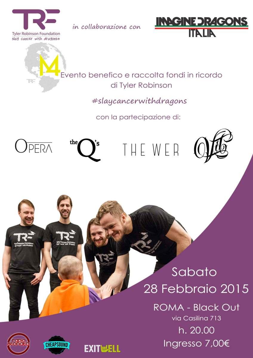 Evento benefico in collaborazione con Imagine Dragons Italia